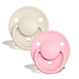 BIBS De Lux silikonske dude – Ivory/Baby Pink (0-3 godine)