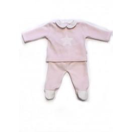 Baby Gi rozi komplet hlače i majica za novorođenče