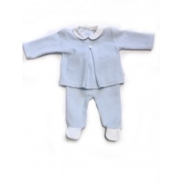 Baby Gi plavi komplet hlače i majica za novorođenče