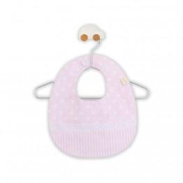 Baby Gi podbradnik sa čipkom i točkicama