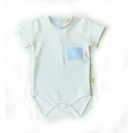 Baby Gi bijeli bodi s plavim detaljima