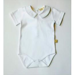 Baby Gi bijeli bodi s kragnicom