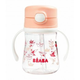 Beaba bočica sa slamkom 240ml - Roza
