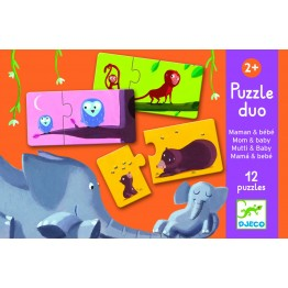 Puzzle duo - mama i beba