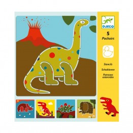 Crtanje sa šablonama - dinosauri