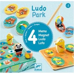 Djeco društvena igra LudoPark - 4 igre