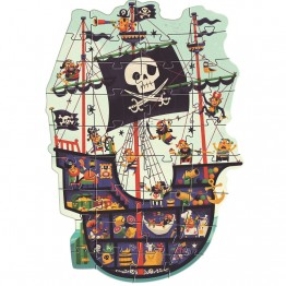 Djeco Velike puzzle Gusarski brod