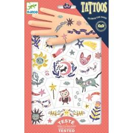 Djeco Tattoo naljepnice - Šarene životinje
