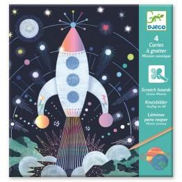 Djeco Bojanka sa strugalicom - Svemir