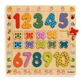 Drvene puzzle 1-10