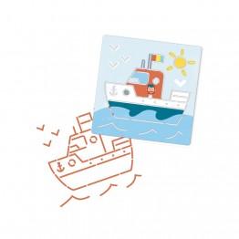 Djeco bojanka sa šablonama brodovi i vozila
