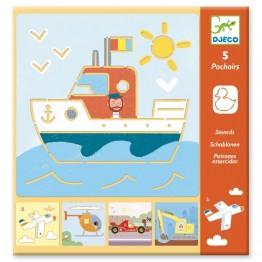 Crtanje sa šablonama -  Brodovi i vozila