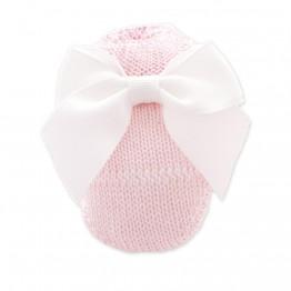 Čarapice za novorođenče roze