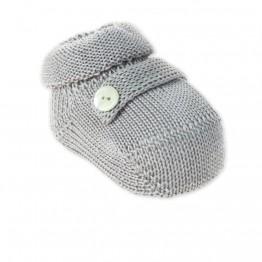 Čarapice za novorođenče sive
