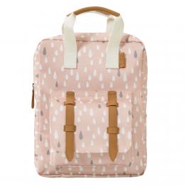 Fresk ruksak Kapljice kiše - rozi