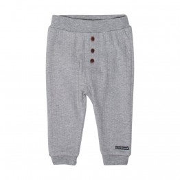 Hust baby sive hlače s smeđim gumbima