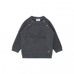 Hust baby pulover s smeđim gumbima