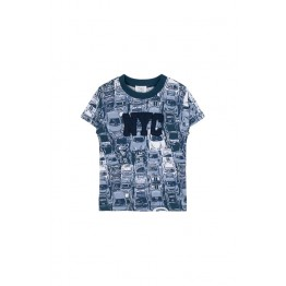 Hust Kids plava majica s printom