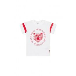 Hust Kids bijela majica s printom mede