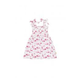 Claire Kids haljina s printom flaminga