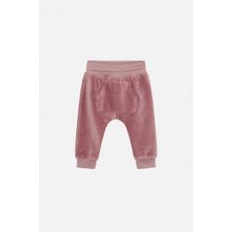 Claire baby hlače roze samt