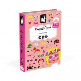 Janod Kutija s magnetima grimase-djevojčica