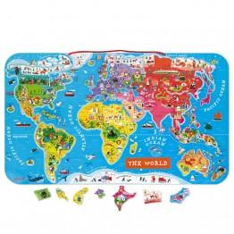 Janod karta svijeta s magnetima