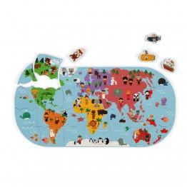 Janod Igračka za kupanje - Karta svijeta