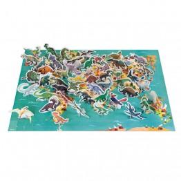 Janod Edukativne puzzle Dinosauri