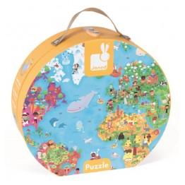Janod velike puzzle karta svijeta