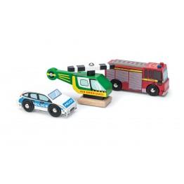 Le Toy Van Set vozila - policija, vatrogasci i hitna pomoć