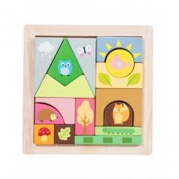 Le Toy Van Petilou drvene kocke Šumski svijet