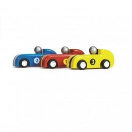 Le Toy Van Set trkaćih autića - 3 kom