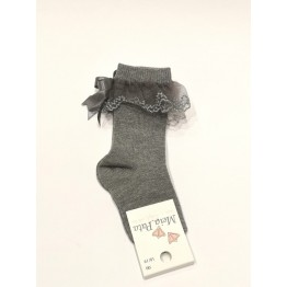 Meia Pata čarape dokoljenke-sive