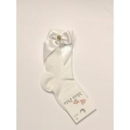 Meia Pata čarape dokoljenke-bijele