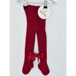 Meia Pata čarape s mašnom - Tamnocrvene