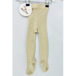 Meia Pata čarape sa šljokicama - Bež