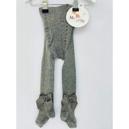 Meia Pata čarape s mašnom - Sive