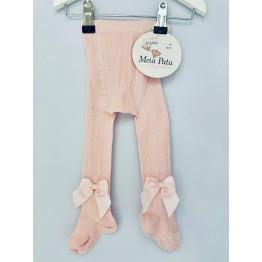 Meia Pata čarape s mašnom - Roze
