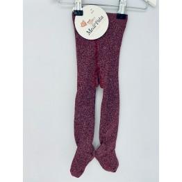 Meia Pata čarape sa šljokicama - Tamnocrvene