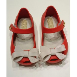 Mini Melissa UltraGirl Bow - Red/Beige