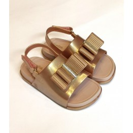 Mini Melissa Beach Slide Sanda - Metallic Pink