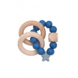 Nibbling Stellar Wood igračka za zubiće - Blueberry