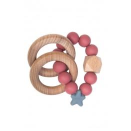 Nibbling Stellar Wood igračka za zubiće - Šipak