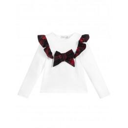 Patachou bijela majica - Tartan