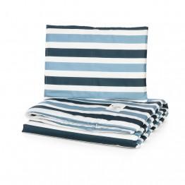 Petit Marie Set navlaka za poplun + jastučnica Grey Blue Stripes