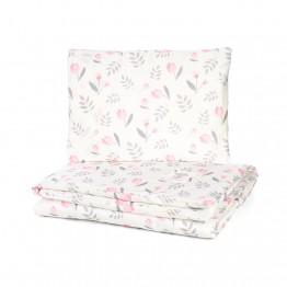 Petit Marie Set navlaka za poplun + jastučnica Rose Tulips