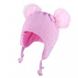 Kapa sa pomponima roza