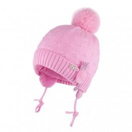 Kapa sa pomponom roza