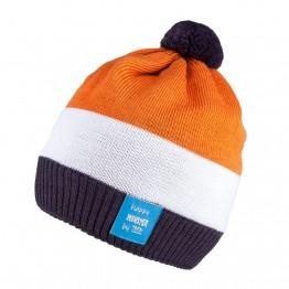 Kapa sa pomponom plavo narančasta